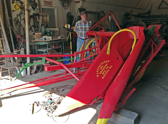 Dale Deno of Appleton, Wis., who collects Appleton Mfg. Co. equipment, even though the company founders moved to Illinois, was lucky enough to find an extremely rare picker in Illinois and has restored it.