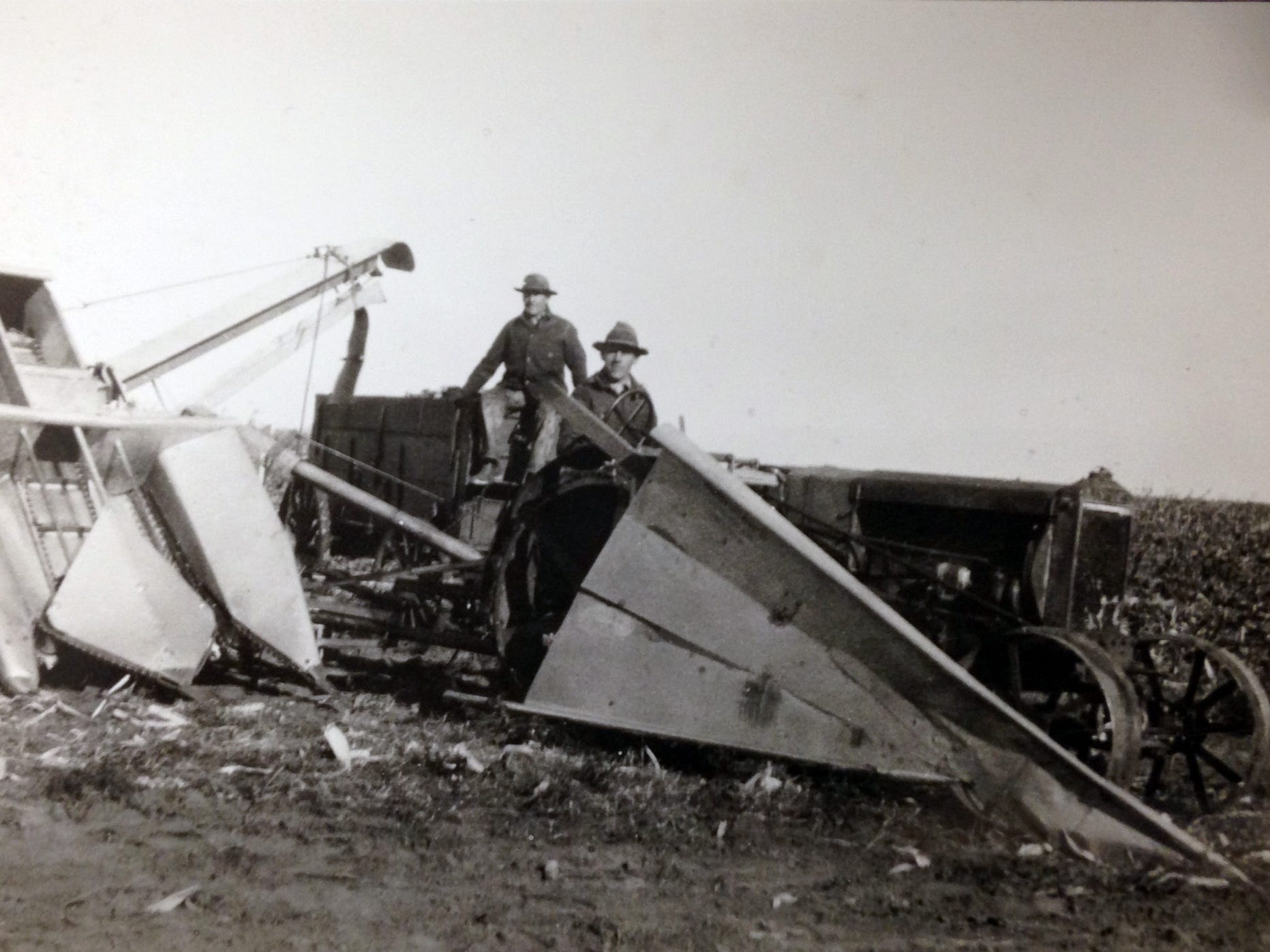 """The book, """"Corn Pickers and the Inventors Who Dreamed Them Up,"""" tells the story of corn pickers, including rare pickers like the Wyde-Tred picker, designed by the inventor of the Wood Brothers corn picker."""