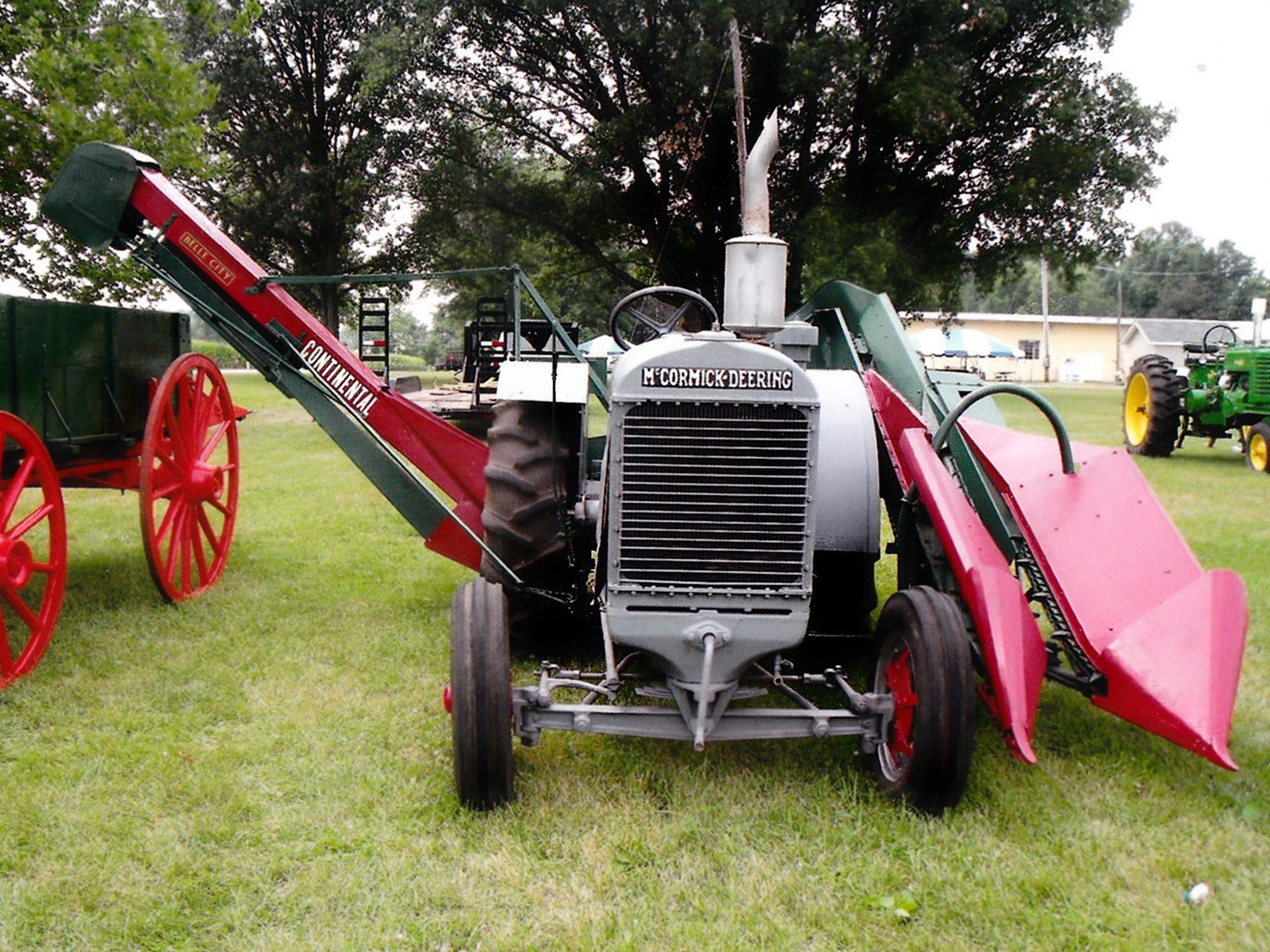 Three young men from DeKalb County, Illinois, invented the first way to mount a picker directly onto a tractor, which they sold to Continental Cultor in Ohio. The manufacturing rights of the Continental Corn Picker, originally built in Ohio, was bought in 1930 by the Belle City Mfg. Co. in Racine. Francis McGrady of Indiana provided this photo of his restored rare Continental.
