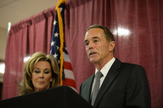 U.S. Rep. Chris Collins, R-N.Y., won re-election despite facing criminal charges alleging insider trading. He talks about the charges with his wife, Mary, after being indicted in August 2018.