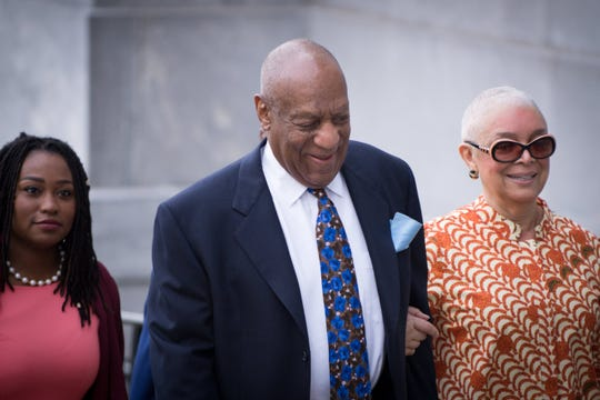 Bill Cosby arrives with his wife, Camille at the Montgomery County Courthouse in Norristown, Pa., on April 24, 2018, for his retrial on sexual assault charges. EPA-EFE/TRACIE VAN AUKEN ORG XMIT: TVX01