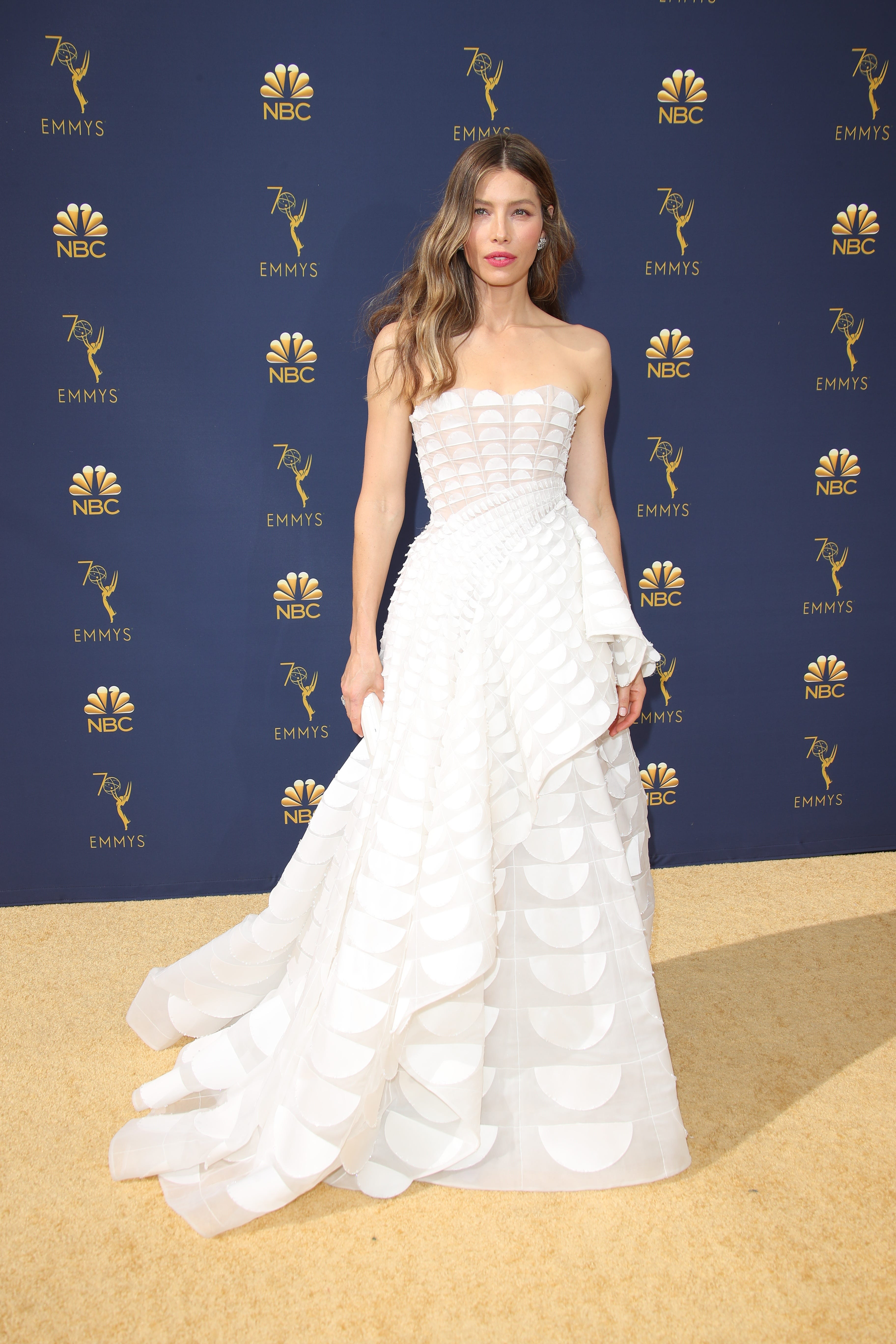 Jessica Biel, Kristen Bell and more best-dressed stars stun at the 2018 Emmys