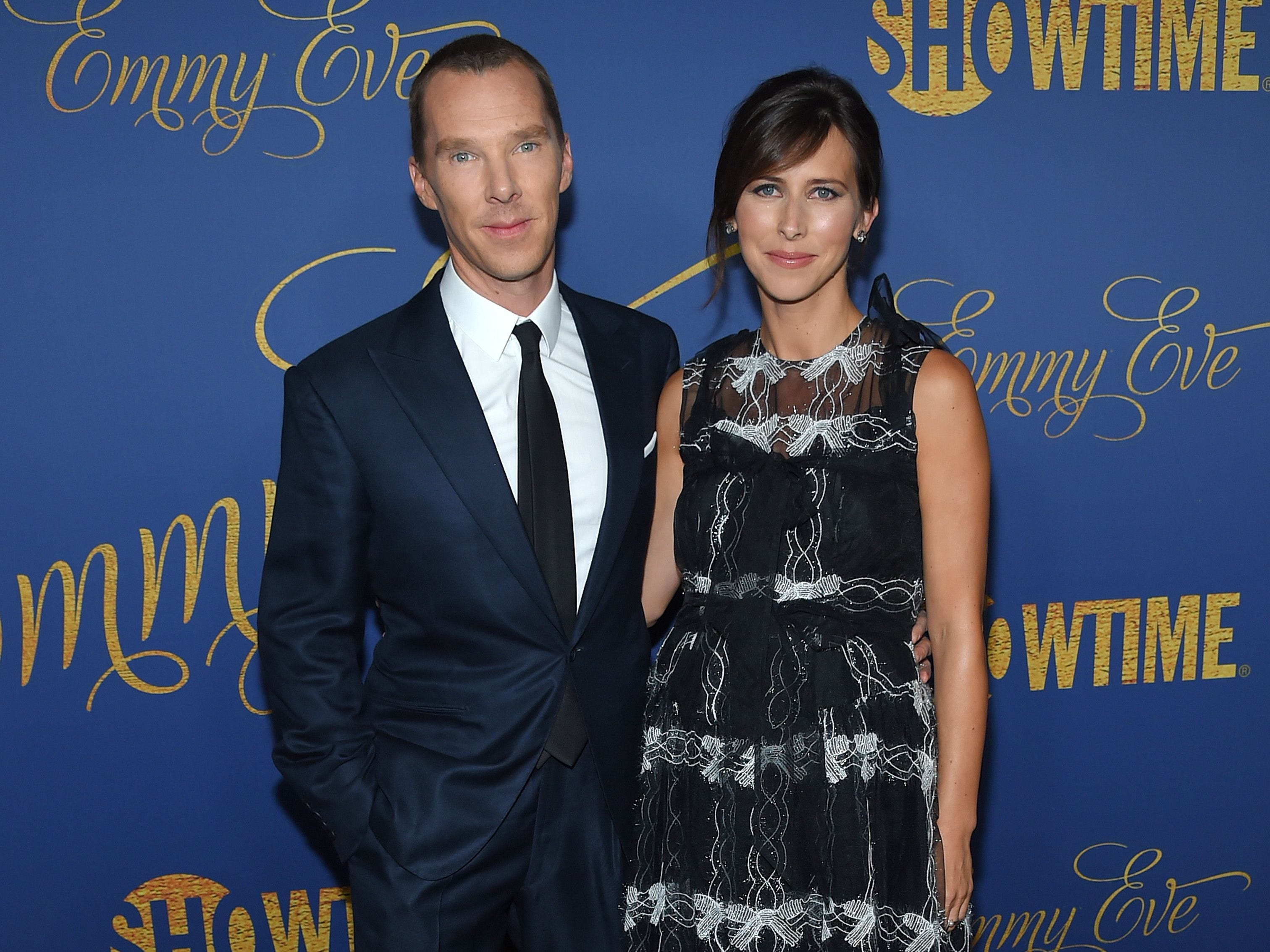 English actor Benedict Cumberbatch and his wife English theatre director Sophie Hunter attend the Showtime Emmy Eve Nominees Celebration in Los Angeles on September 16, 2018. (Photo by LISA O'CONNOR / AFP)LISA O'CONNOR/AFP/Getty Images ORIG FILE ID: AFP_1957T6