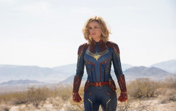 "Brie Larson stars as the super-powerful Carol Danvers in ""Captain Marvel."""