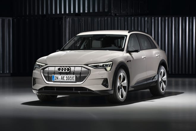 Audi e-tron, the company's first entry into the electric car sweepstakes. It is an SUV, which represents the majority of the company's U.S. sales.