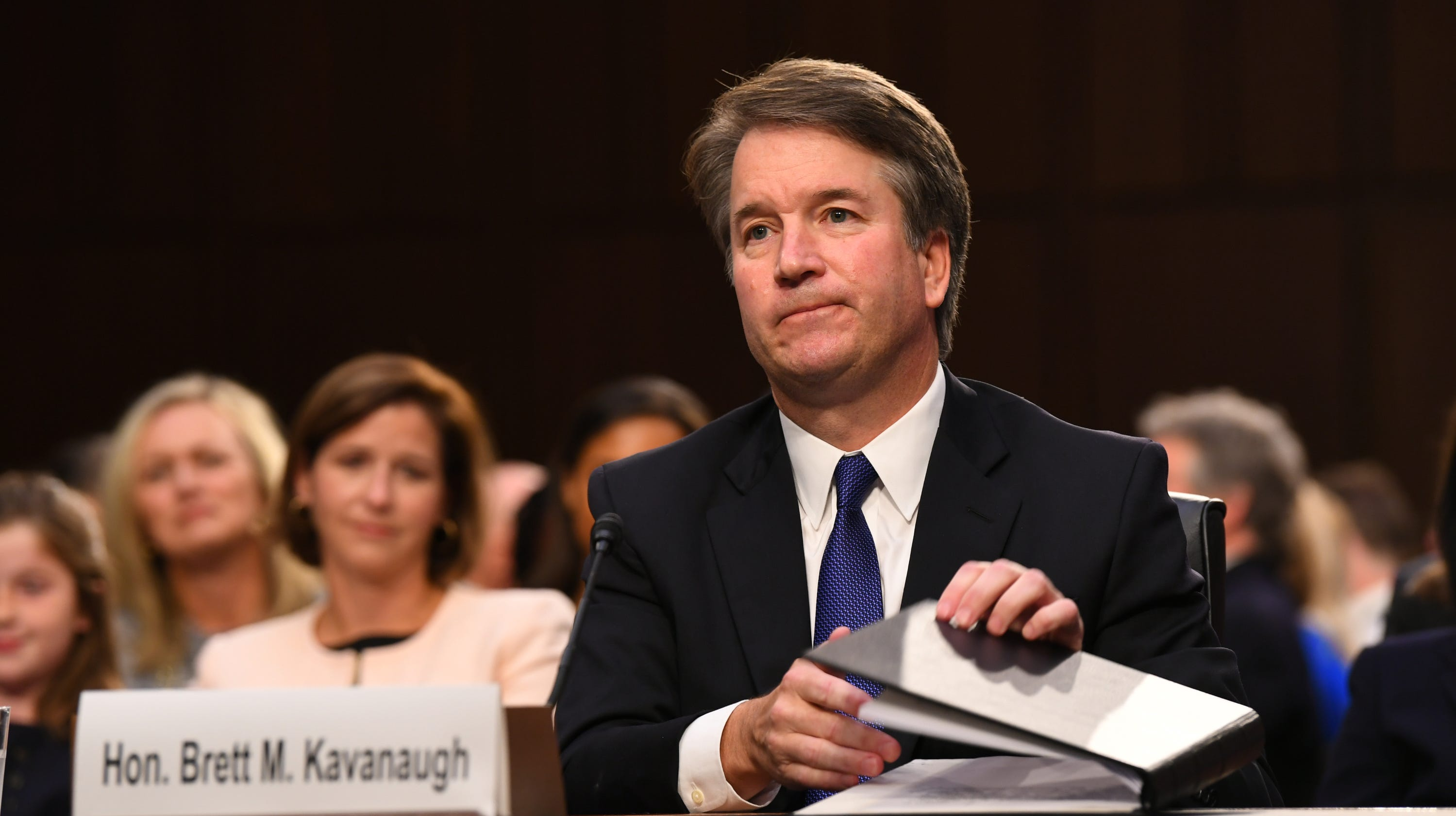 Image result for PHOTOS OF KAVANAUGH AT 9/27/18 HEARING