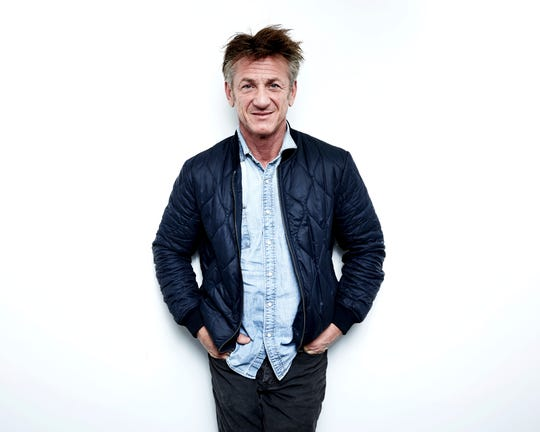 Actor-author-activist Sean Penn poses for a portrait in New York in March 2018.