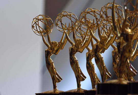 Emmy statues await their new owners backstage at the 2018 ceremony.