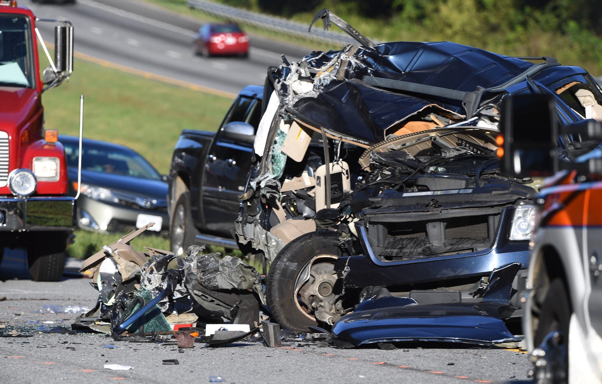 Interstate 85 accident in Anderson County