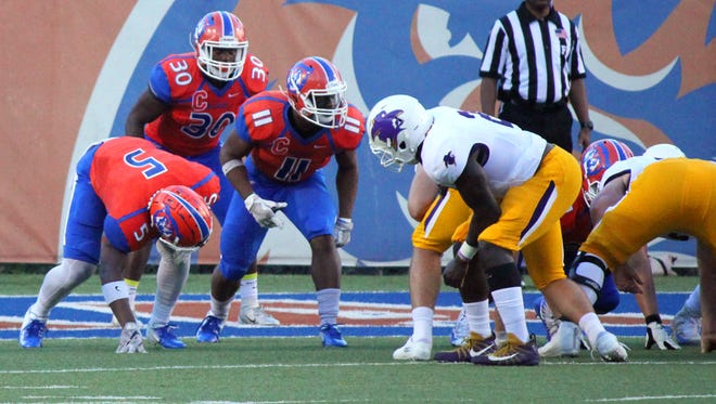 Louisiana College fell to No. 8-ranked Hardin-Simmons Saturday.