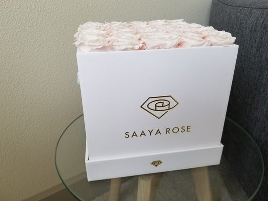These real roses From Saaya Roses offer a pop of color that can last for two years.