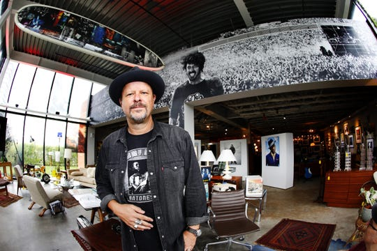 Danny Clinch inside his Transparent Gallery.