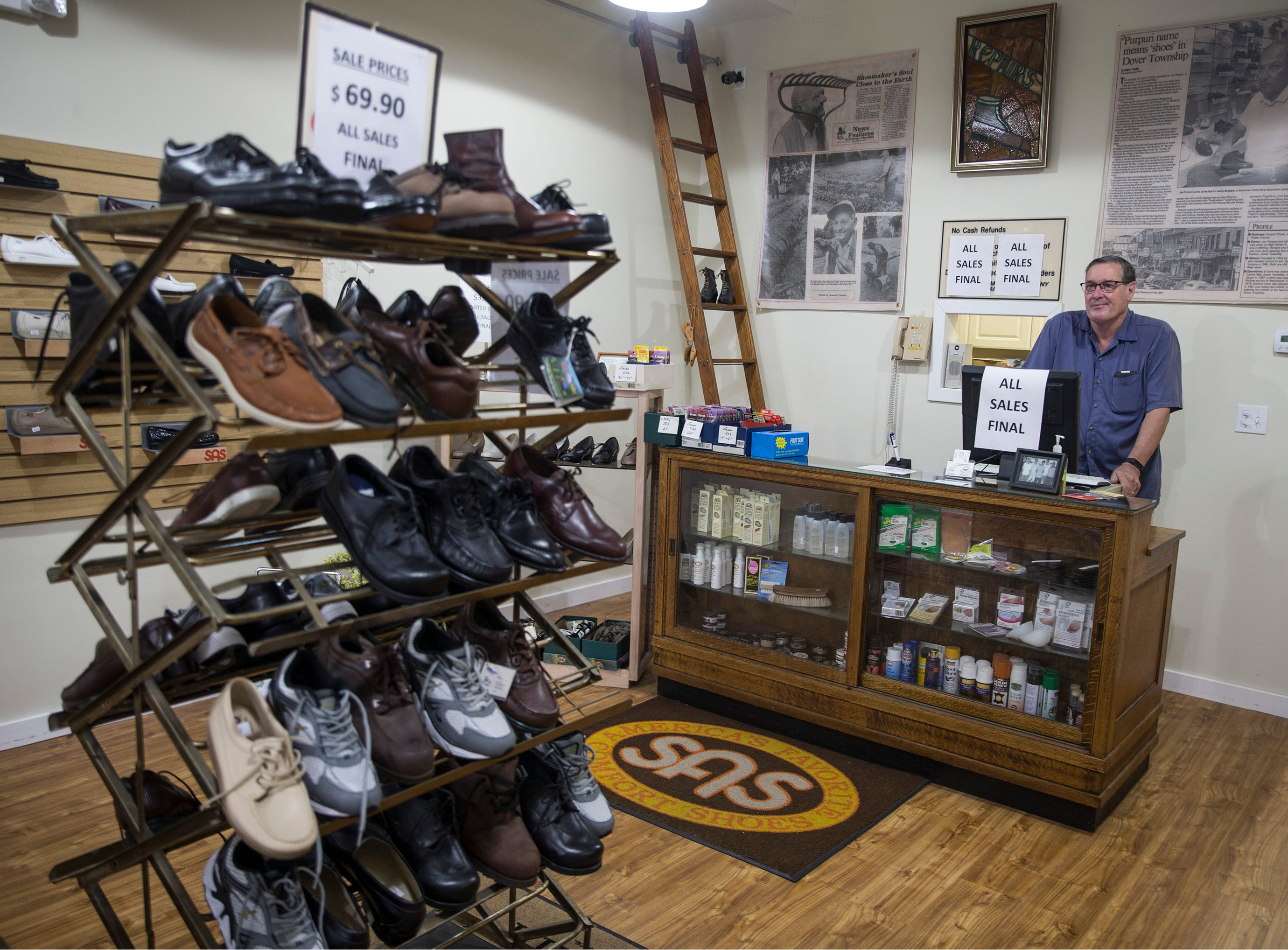 Purpuri Shoes, a family-owned store in Toms River, is closing after 102 years in business. Store owner Rick Purpuri is has decided to retire after being in the business for 43 years. 