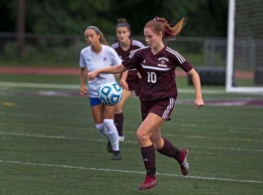 Matawan's Sara Margarites. Wall Girls Soccer vs Matawan in Matwawan NJ on September 18, 2018.