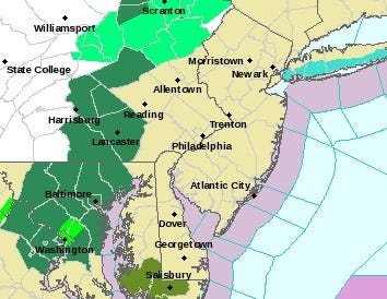 A hazardous weather outlook covered the entire state Tuesday.