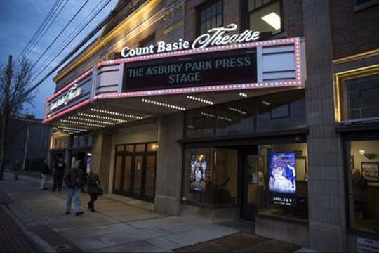 Count Basie Theatre marquee, Red Bank. Photo/Doug Hood