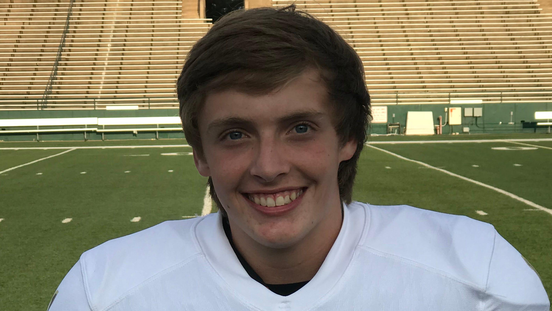 Abilene High receiver Clay Cox.