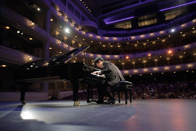 Daniel Hsu performs during the semifinal round of the annual Cliburn piano competition. Hsu, who was the bronze medal winner, will perform Saturday with the Abilene Philharmonic Orchestra.