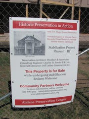 A sign posted on a fence around Rosetyme a few years ago sought a new owner for the home that the Abilene Preservation League worked to save.