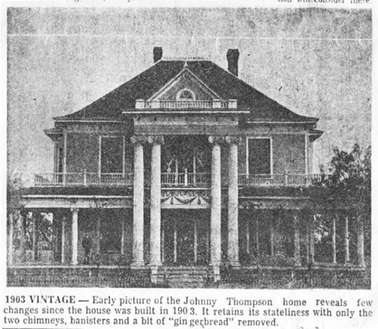 A newspaper photo of Rosetyme in 1910, long before it was purchased by the Thompson family.