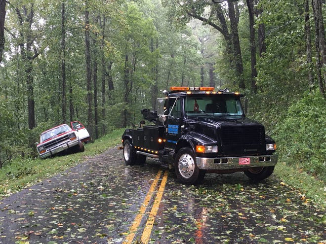 The Blue Ridge Ridge Parkway was closed over the weekend due to Hurricane Florence's high winds and heavy rains. Crews are still working to reopen sections of the parkway north of Asheville.