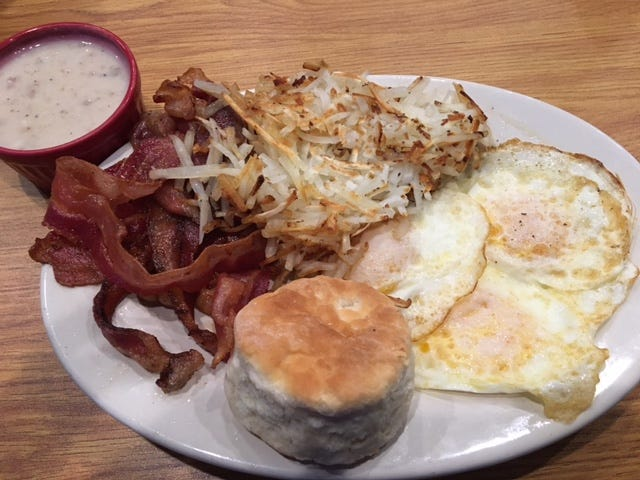 One of the signature breakfast items at the R&R Grill is The Touchdown.
