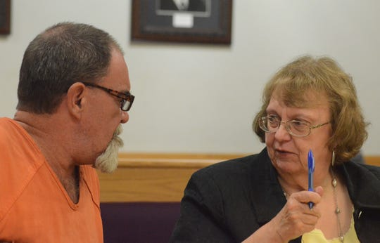 William Kazee with his attorney, Susan Mladenoff after a hearing Tuesday, Sept. 18, 2018.