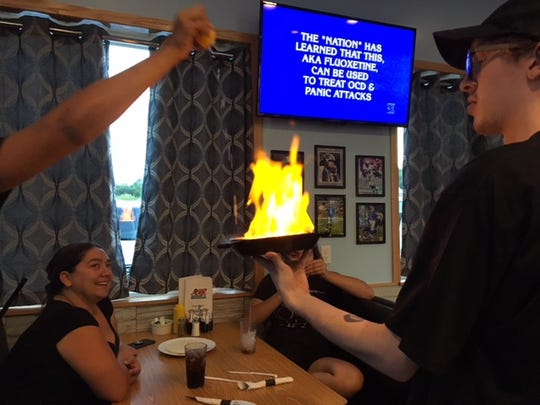 At the R&R Grill you can get dinner and a show if you order the Saganaki.