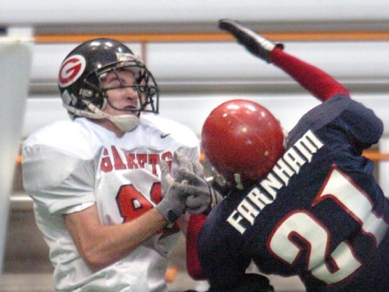 Chenango Forks defender Ben Farnham breaks up a pass intended for Rye receiver Tim Monaghan in the third quarter.