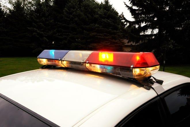 Police light on a police car