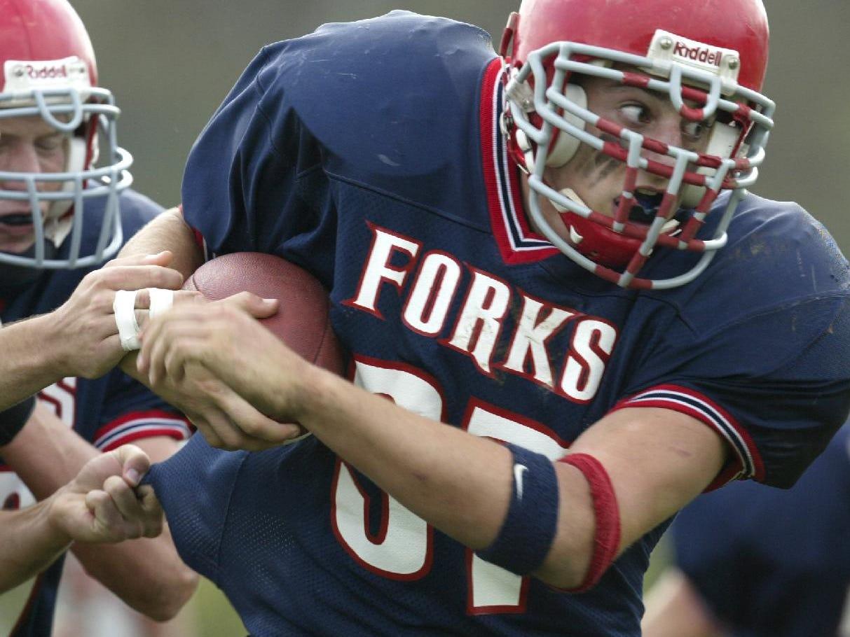 Joe Babcock, fullback Chenango Forks HS football