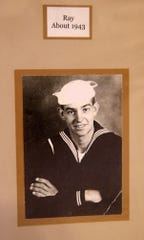 A picture of a young Ray Tee during his Navy days. He served during World War II.