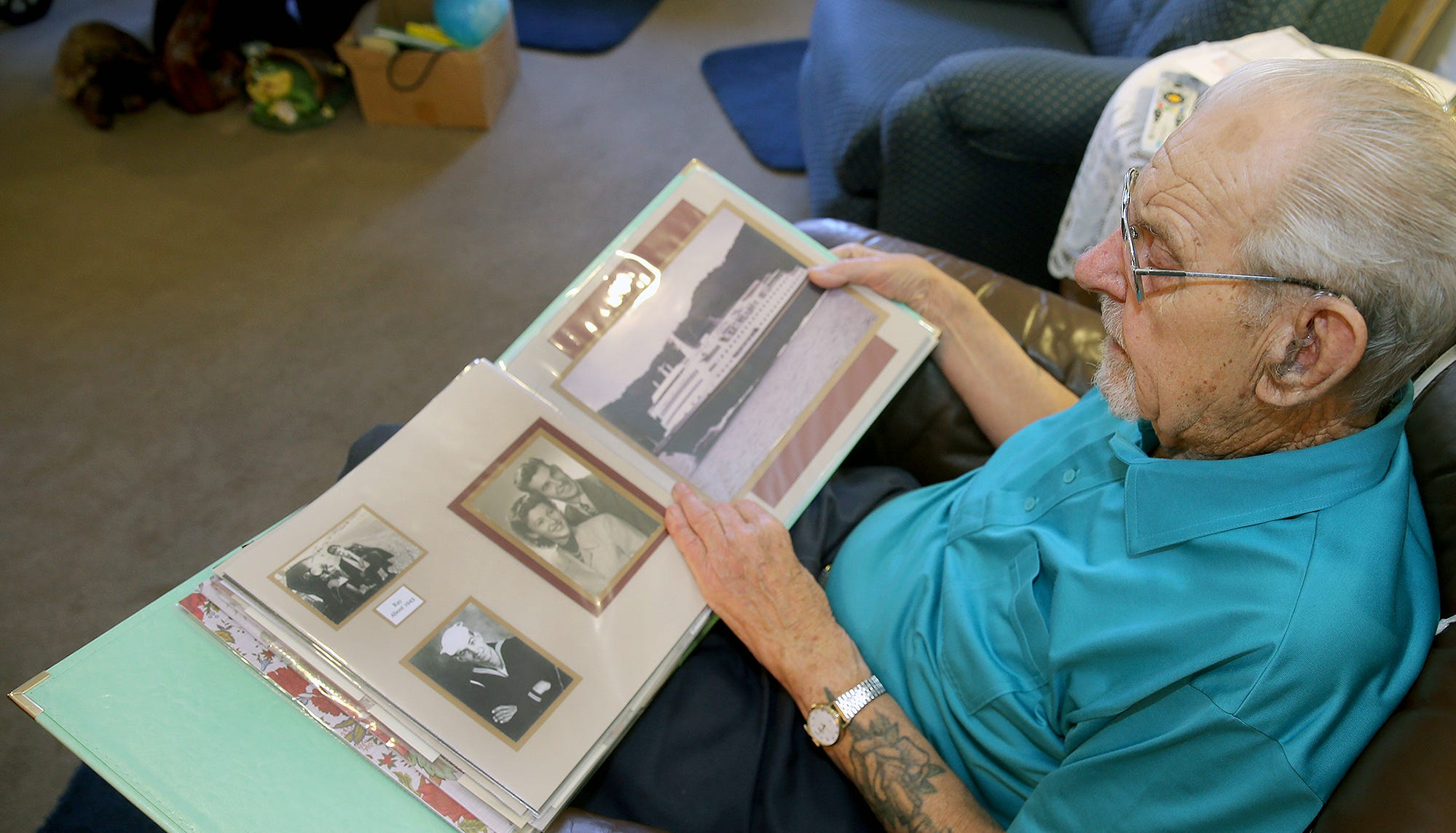Washington State native Ray Tee served aboard a destroyer surviving kamikaze attacks in the Navy and going to Nagasaki during World War II. He now lives in Silverdale.