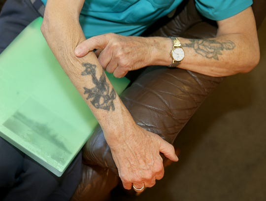 Ray Tee got tattoos as his tour on a destroyer began shortly after he enlisted in the Navy.