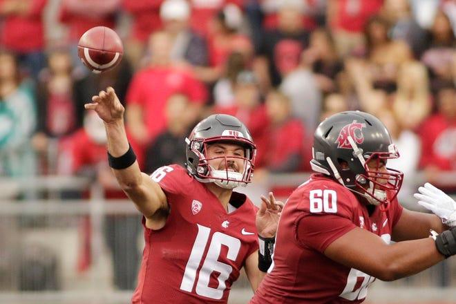 Washington State quarterback Gardner Minshew II has thrown for 1,203 yards in three games so far this season.