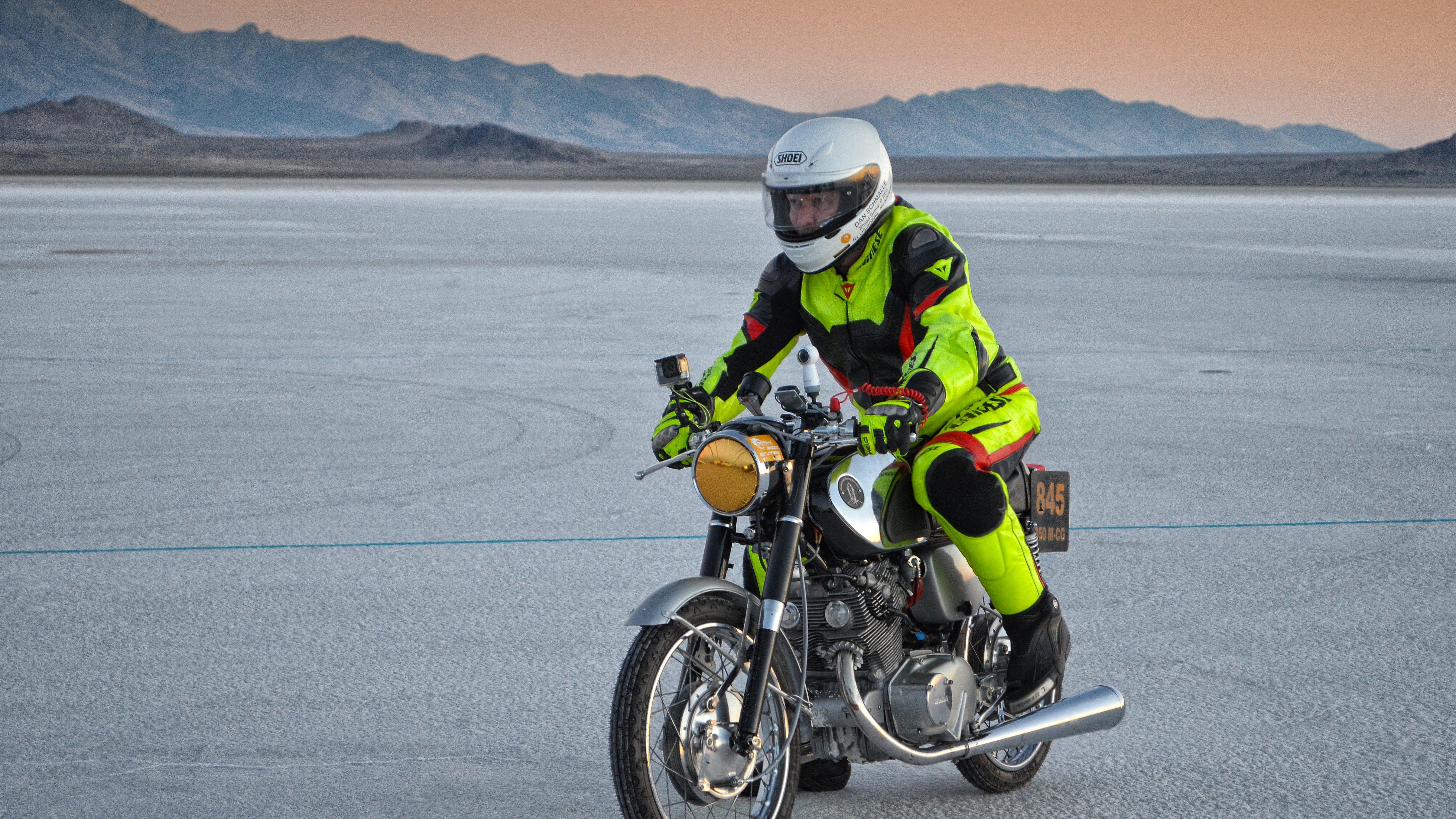 Poulsbo man breaks land speed record on a 1962 motorcycle
