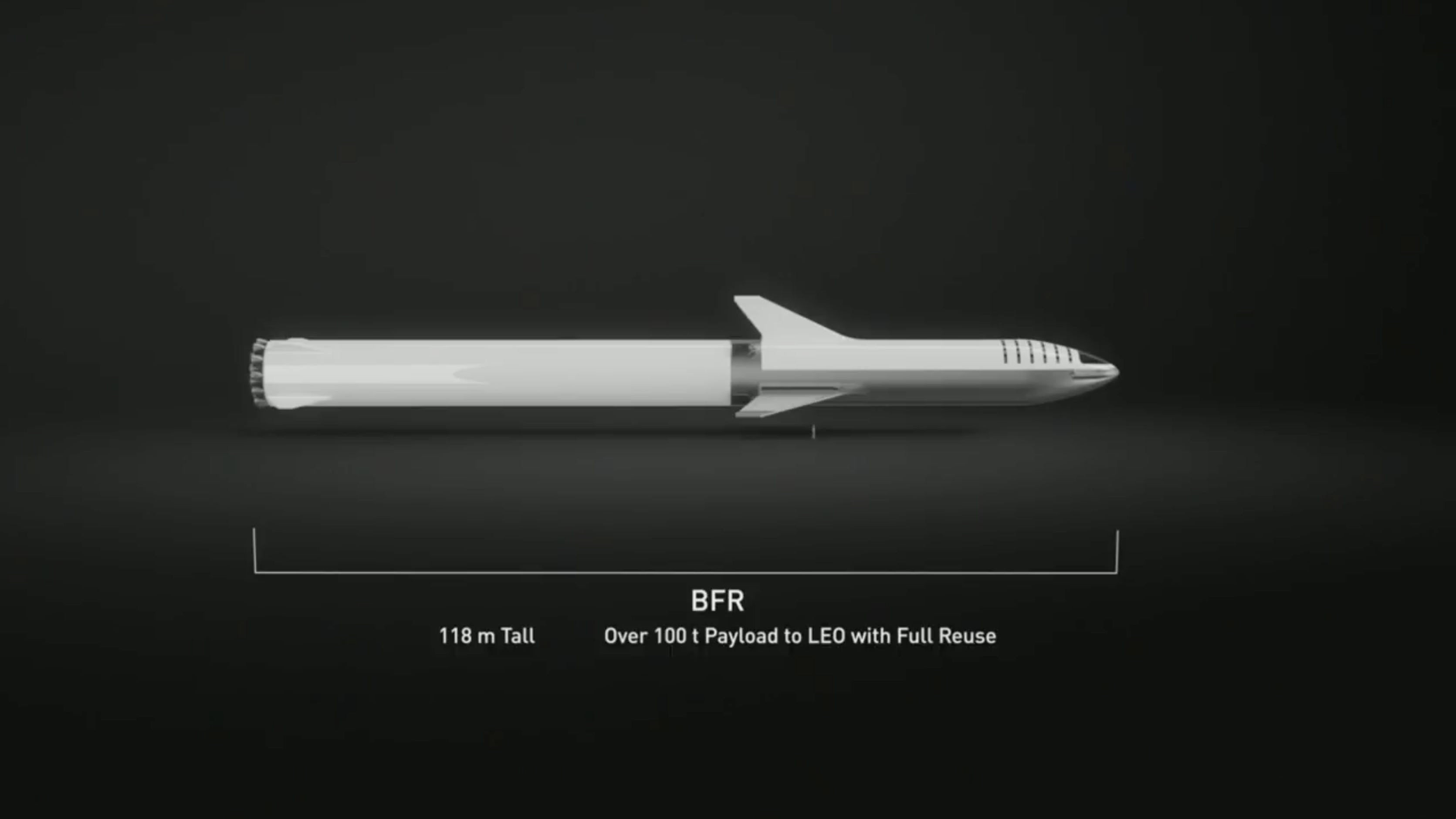 Renderings and specifications for SpaceX's upcoming Big Falcon Rocket and Big Falcon Spaceship, which were unveiled in September 2018.