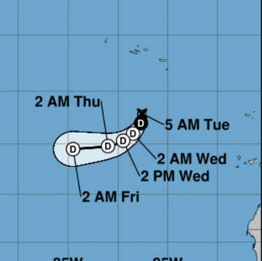 Tropical Depression Joyce still hanging on, expected to weaken