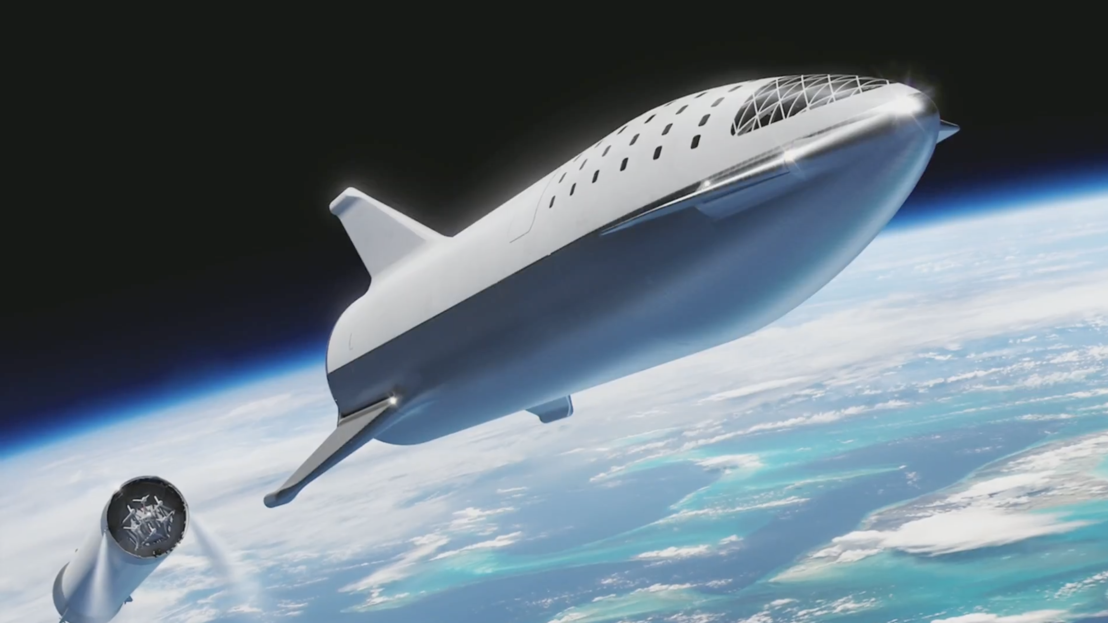 The newest designs for SpaceX's Big Falcon Rocket...