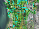 2018: Ash trees (marked in teal) in Burlington's downtown and South End are a significant presence in parks and greenbelts, as seen in this map created by the Department of Parks, Recreation and Waterfront.