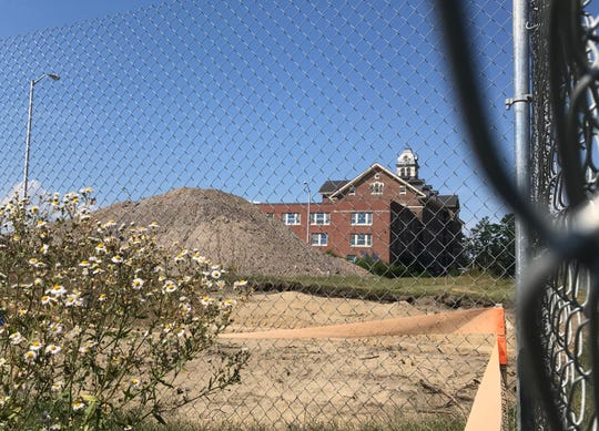 """Site of future """"Juniper House"""" elderly housing by Cathedral Square is used as a staging area for other construction at Cambrian Rise in Burlington on September 5, 2018.  Groundbreaking for Juniper House is currently scheduled for August 2019."""
