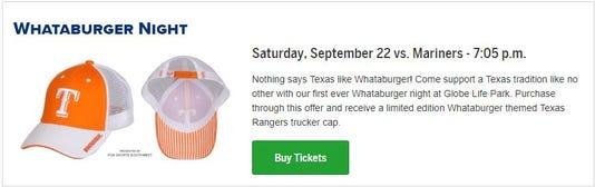 Rangers Whataburger