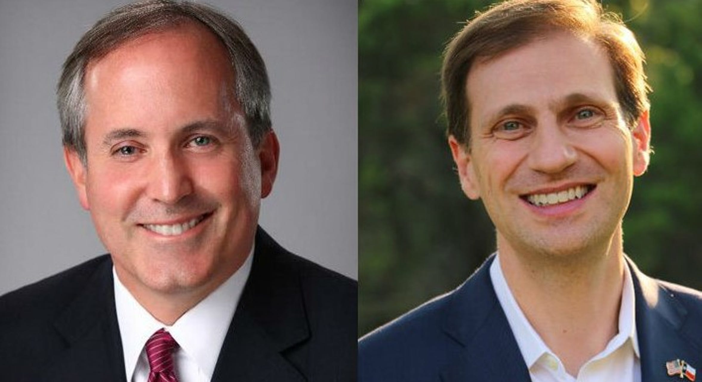 Ken Paxton and Justin Nelson