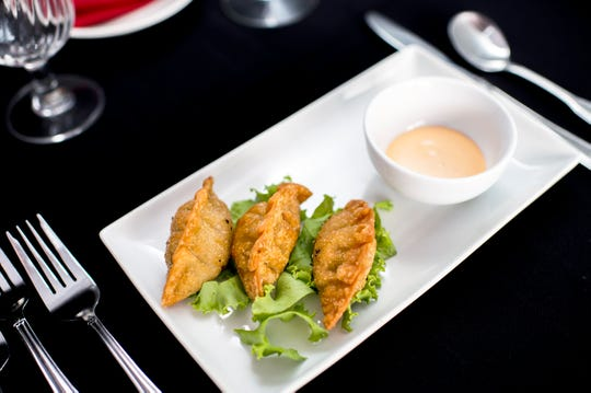 Fried chorizo and guacamole dumplings are a unique treat  from C.C.'s Kitchen in Haddon Heights