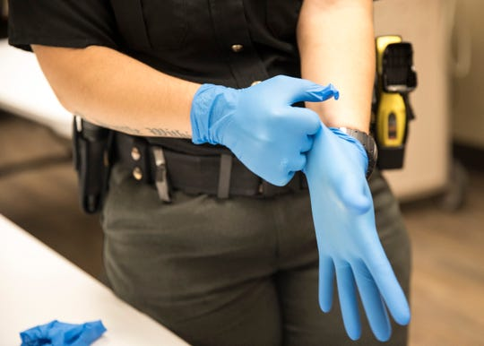An officer who collects DNA must wear gloves to prevent contamination.