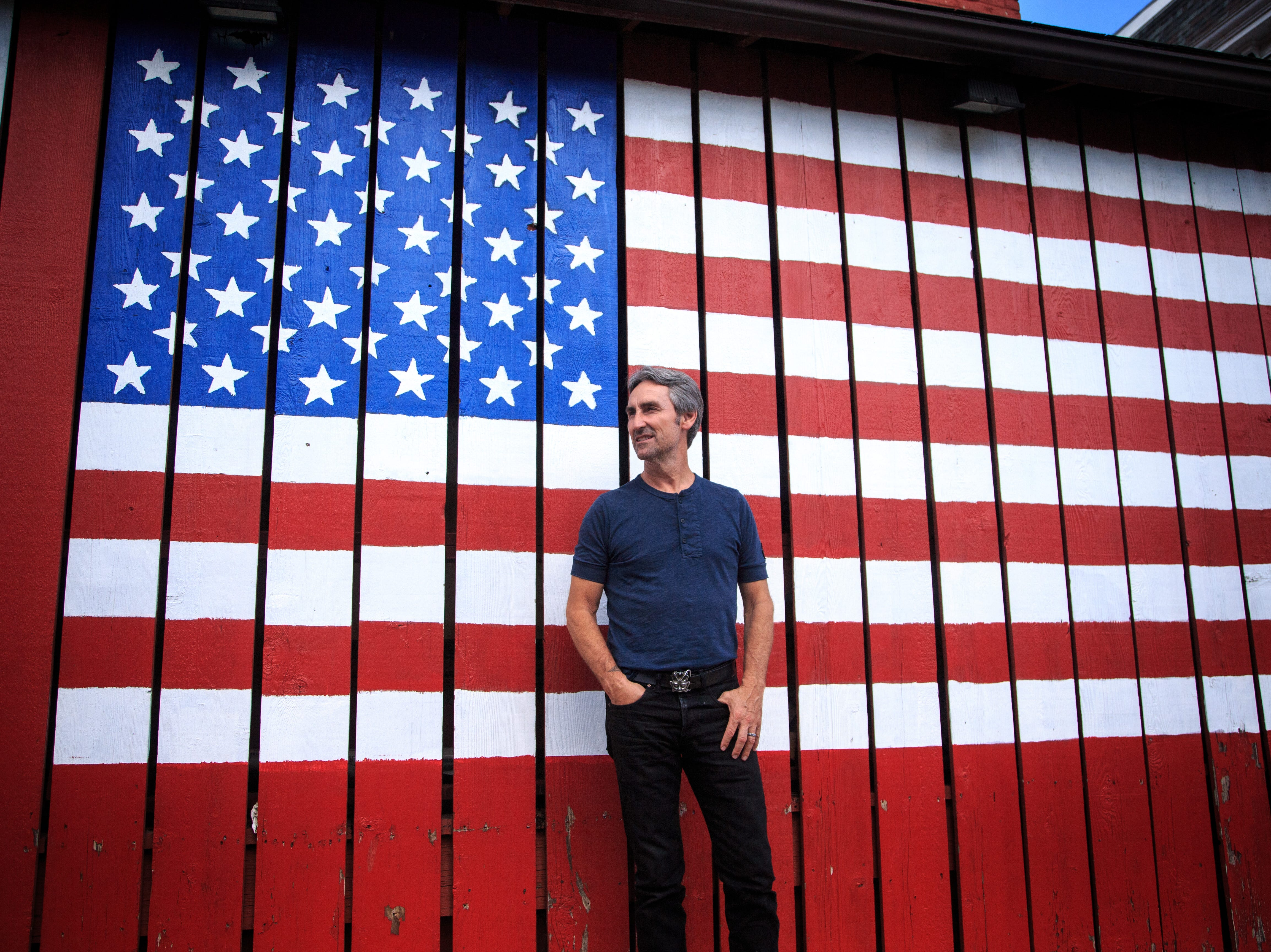 Mike Wolfe of American Pickers fame stands for a photo in LeClaire, where his store Antique Archaeology is located June 27, 2018.