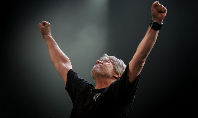 Bob Seger at Cobo Arena in Detroit on March 17, 2007.