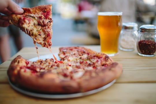 Pizza at Shorts Brewing Company in Bellaire pairs perfectly with (what else?) a Short's beer