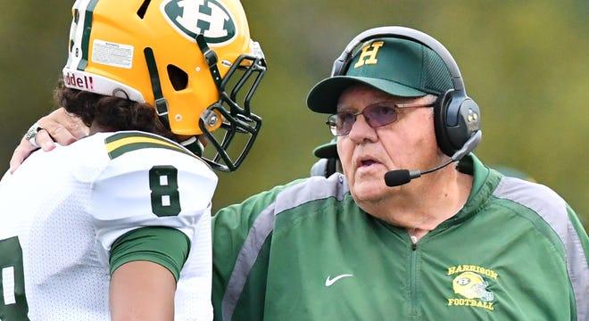 Farmington Hills Harrison head coach John Herrington