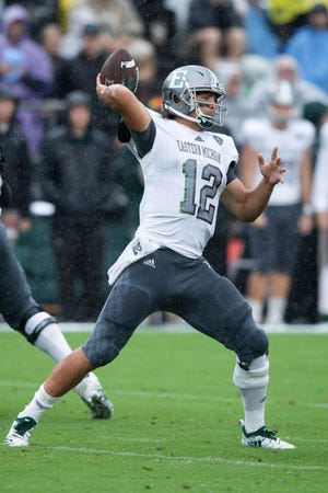 Eastern Michigan QB Tyler Wiegers was replaced by Mike Glass in last weekend's loss at Buffalo.